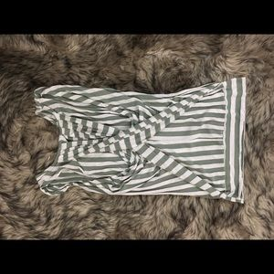 Green & white striped tank top by Greylin